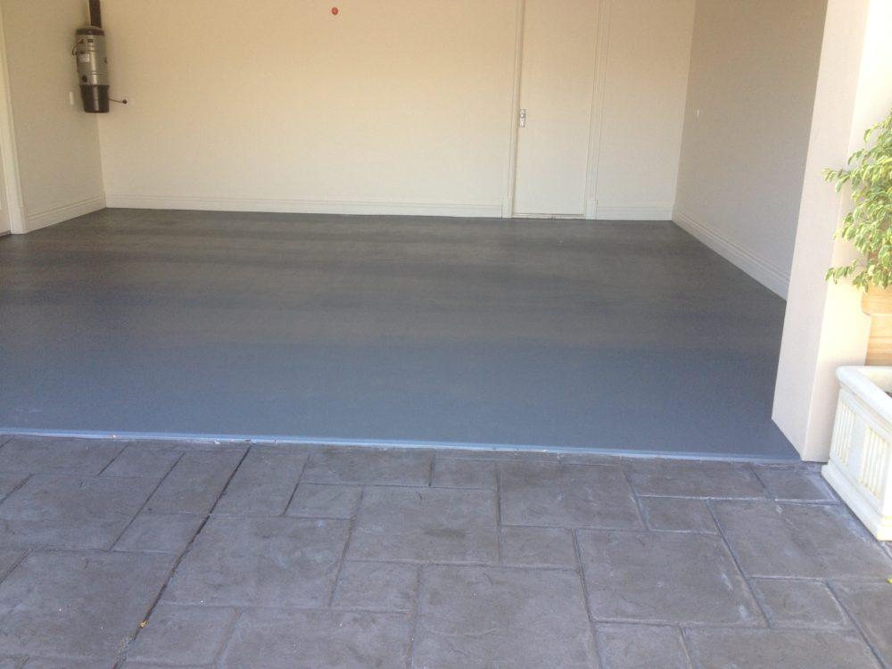 Single Colour Garage Floor