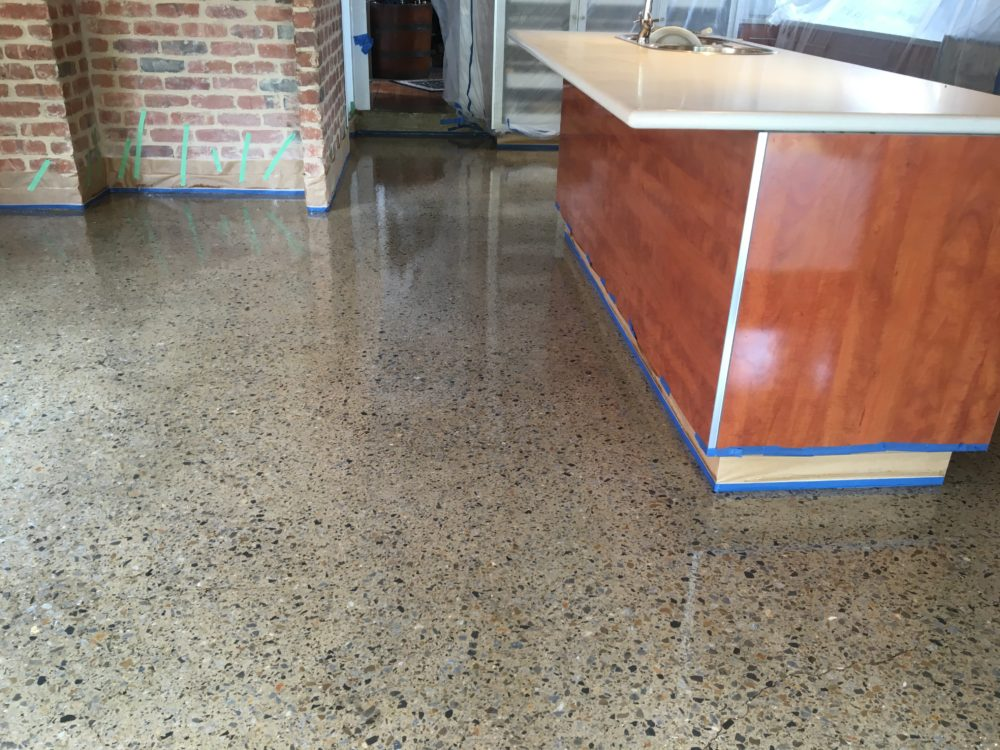 Polished Concrete with UV-Stable Sealer