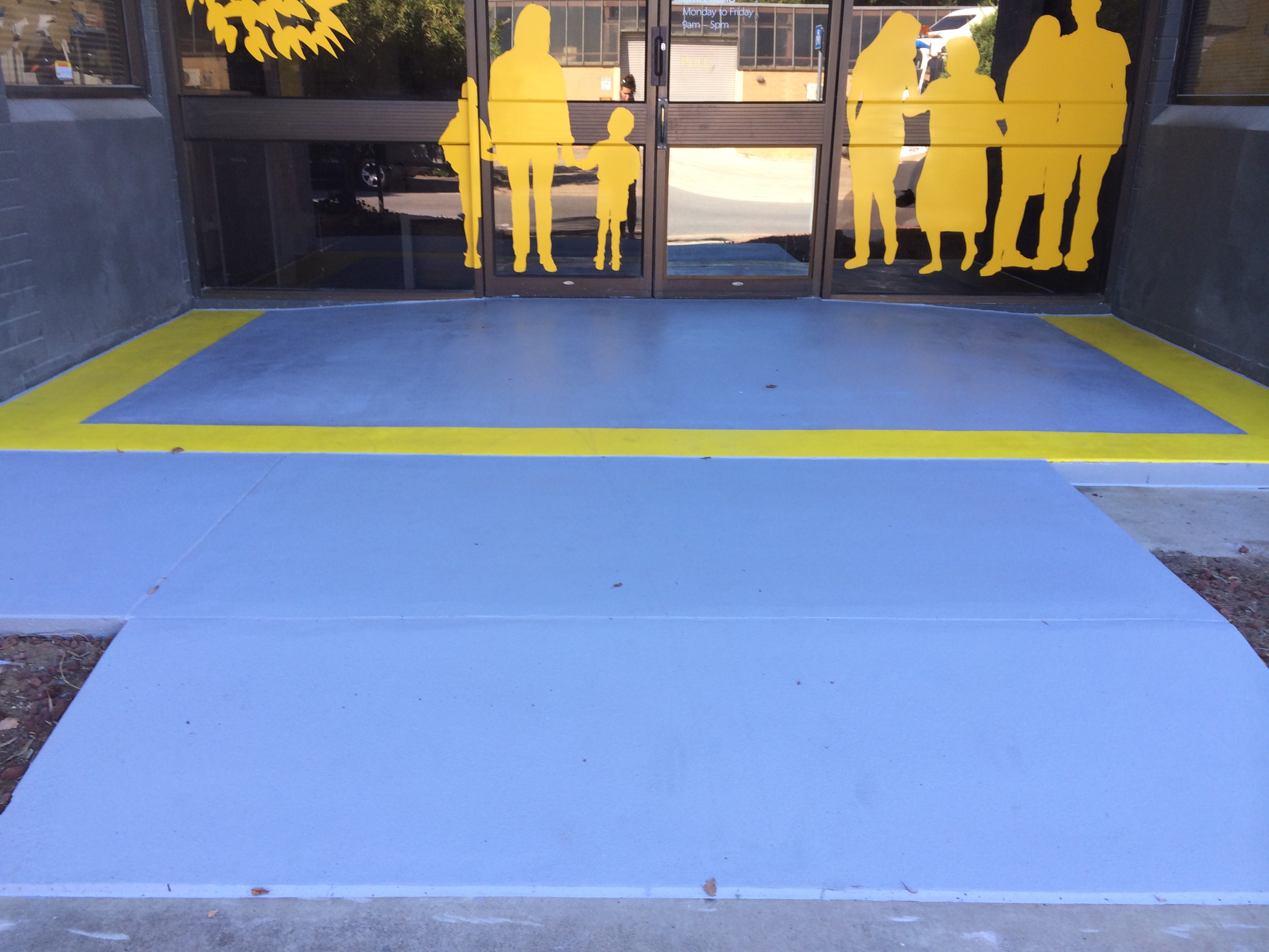 Public Entrance with Slip-Resistant Coating