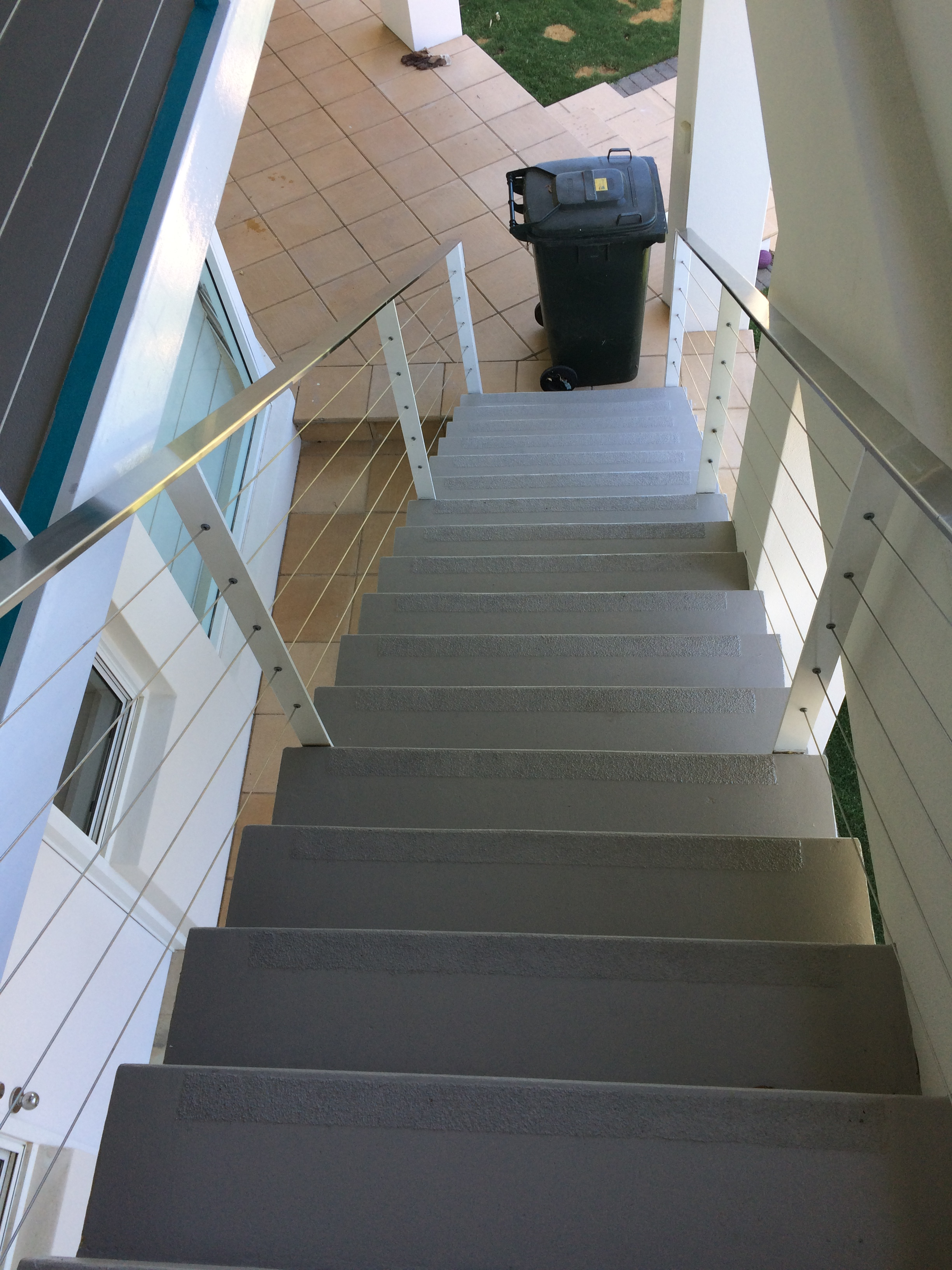External Stair Non-Slip Epoxy Application