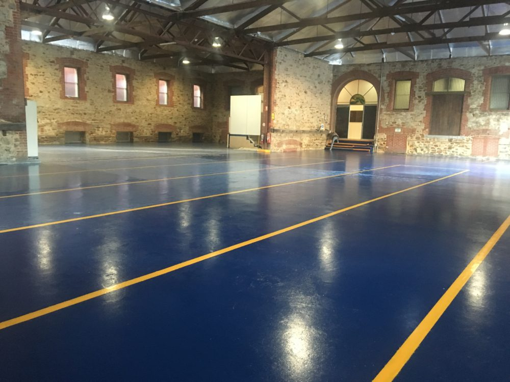 Restored blue Warehouse Floor