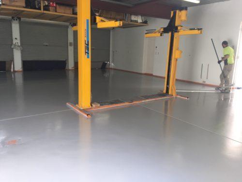 Single Colour Epoxy Garage Coating