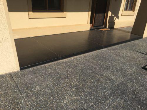 Black Polyurethane Coating on Porch