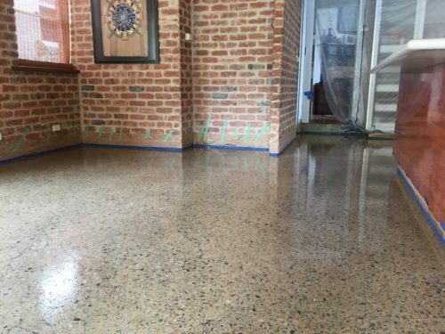Polished Concrete Repair and Sealer Installation