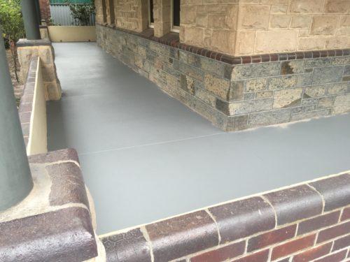 Porch Concrete Repair and Coating