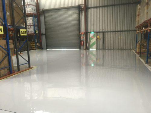 Medium Build Epoxy Warehouse Floor