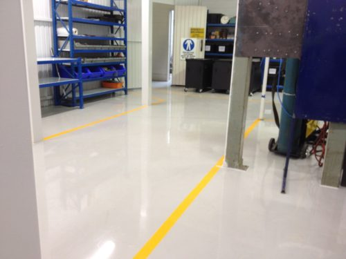 High Build Epoxy for Factory Floor
