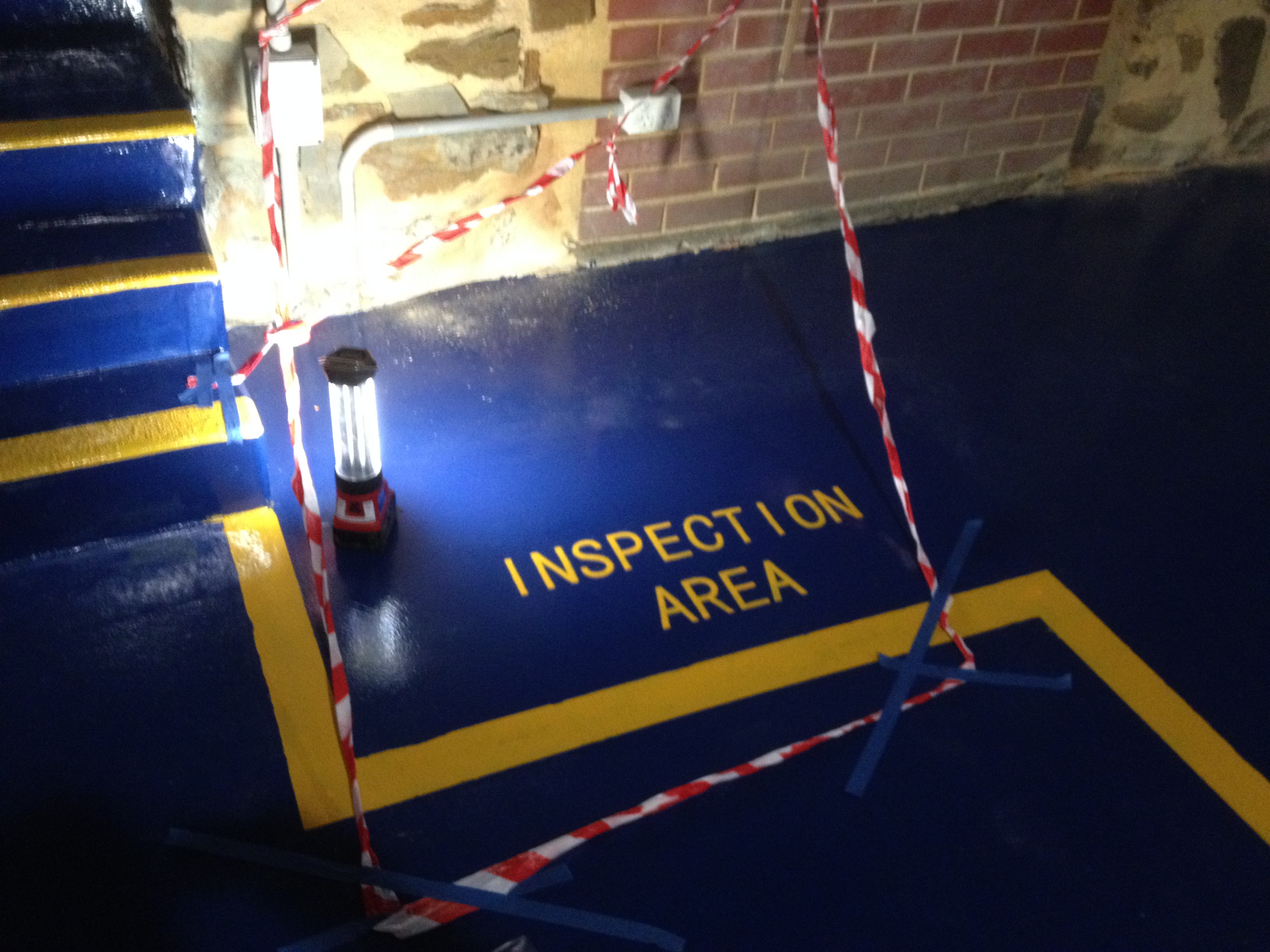 Epoxy Line Marking and Letter Creation