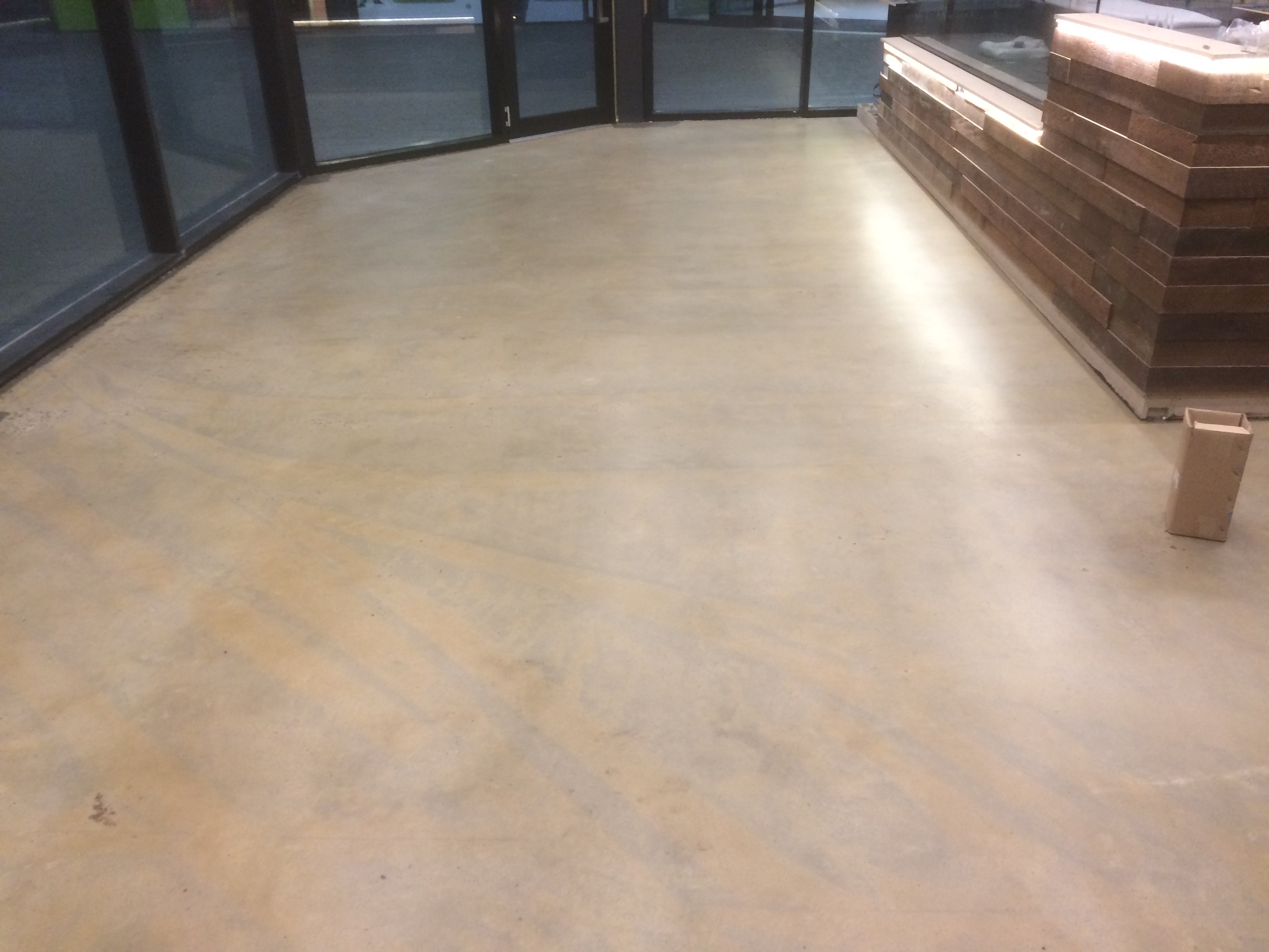 Naked Concrete Floor with Satin Finish